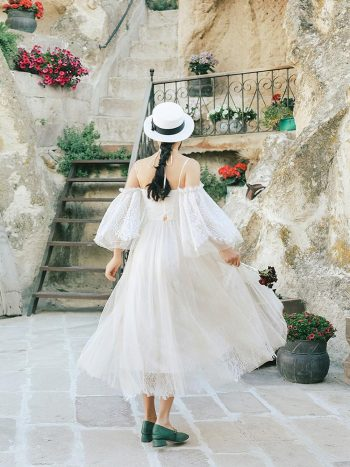 Off Shoulder Bohemian Lace Dress