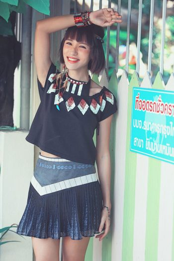 Hippie Style Pleated Skirt