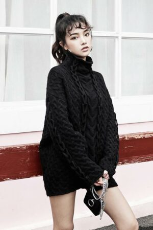 Black Knit Long Sweater