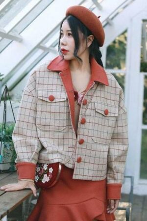 Autumn Plaid Jacket