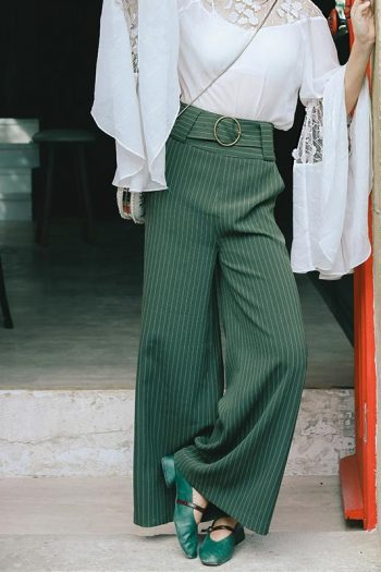 Wide Leg Stripe Pants