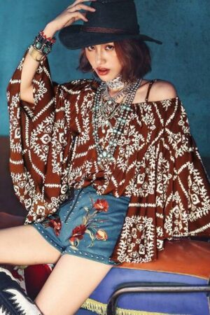 Bat Sleeve Bohemian Shirt