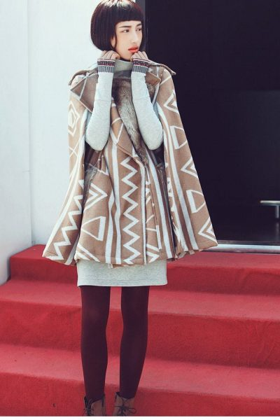 Ethnic Woolen Cape Coat