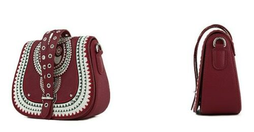 Ethnic Style Embroidered Leather Bag