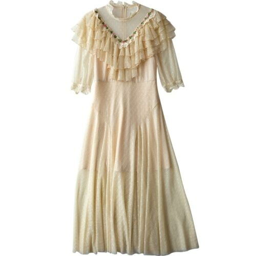 Ruffle Lace Vintage Dress