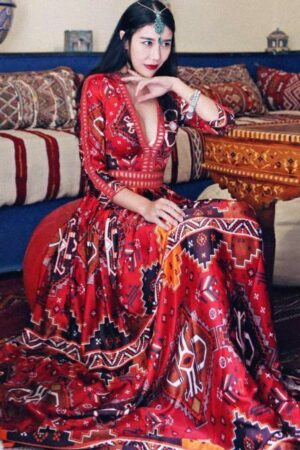 Syrian Style Red Dress