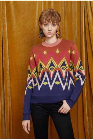 Geometric Woolen Sweater