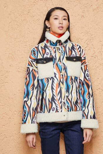 Phoenix Print Winter Jacket
