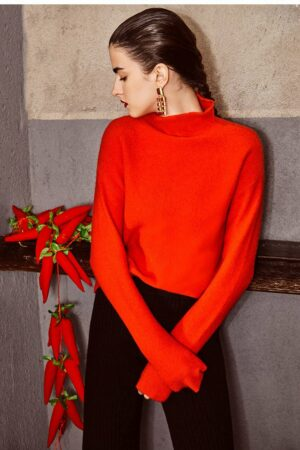 High Collar Woolen Sweater