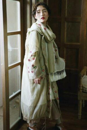 Floral Embroidered Oversize Jacket