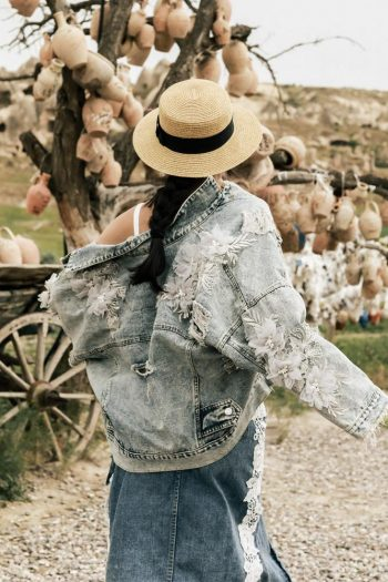 Floral Light Denim Jacket