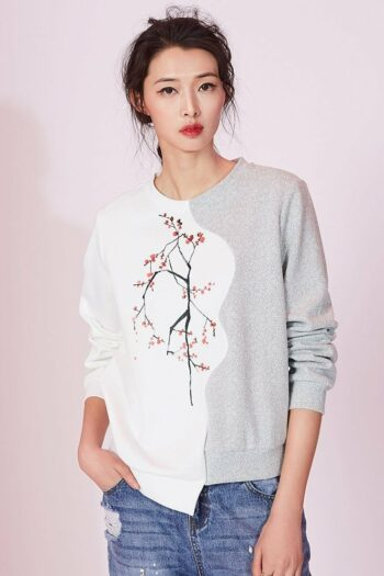 Asymmetrical Stitching Sweater