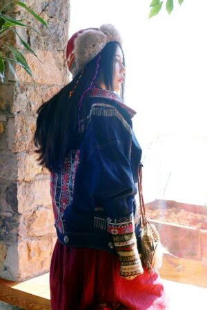 Ethnic Embroidered Denim Jacket