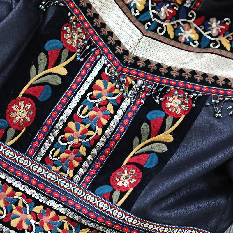 Ethnic Style Embroidered Short Jacket