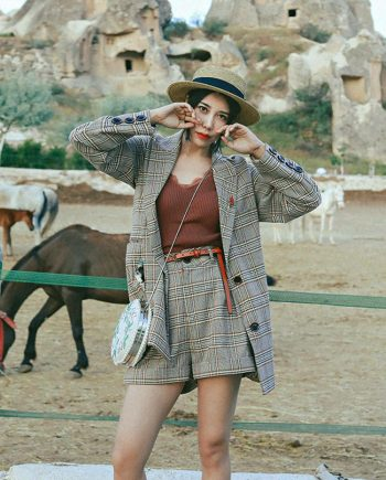 Plaid Two-Piece Suit