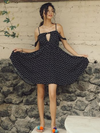Black Polka Dot Beach Dress