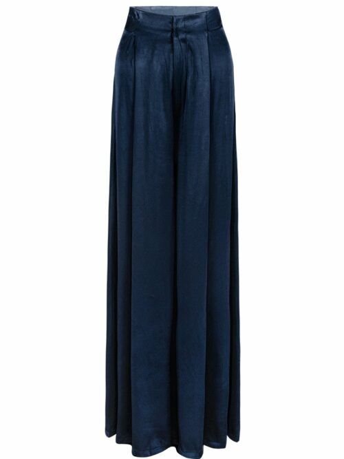 Wide Leg Blue Pants