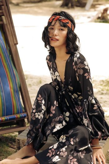 V-Neck Resort Floral Jumpsuit