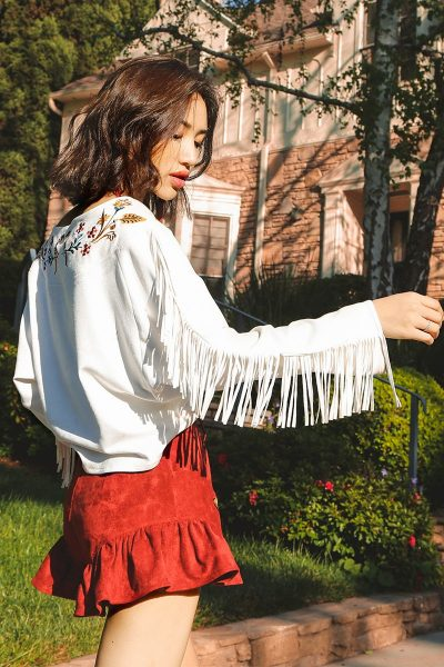 Hippie Style Fringe Sleeve Sweater