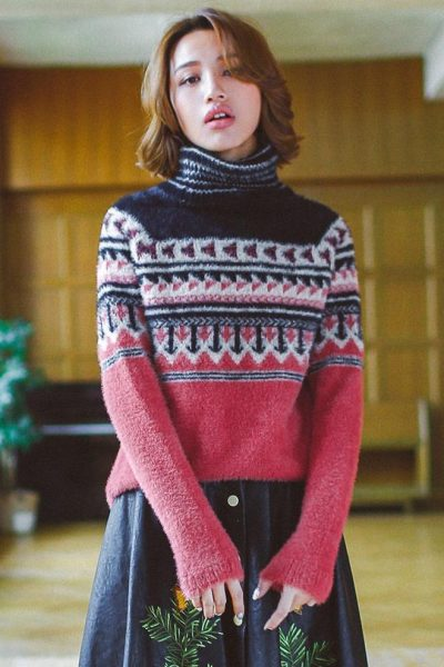 High Collar Warm Sweater