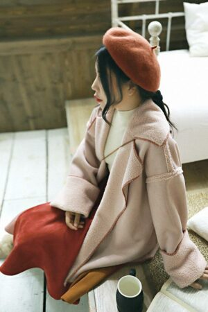 2 Way Light Pink Fur Jacket
