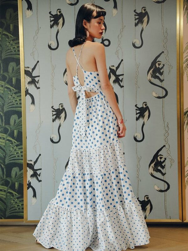 Backless Vacation Style Dress