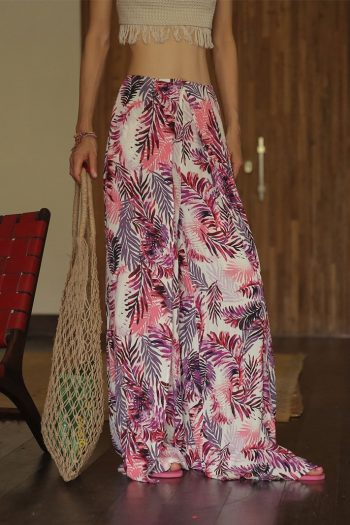 Wide Leg Boho Beach Pants