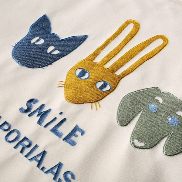 Cartoon Embroidered Sweater