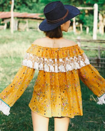 Bohemian Off Shoulder Ruffle Top