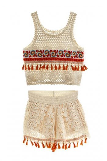 Ethnic Style Knit Two-Piece Set
