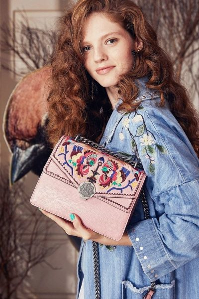 Pink Ethnic Embroidered Bag