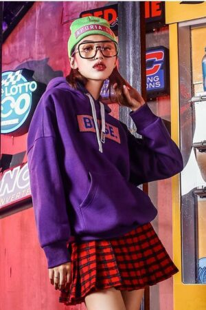 Purple Hooded Sweater
