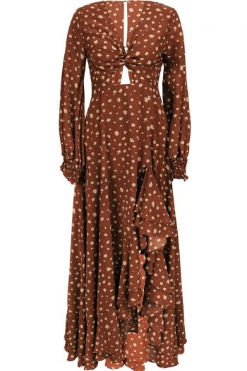 Retro Style Brown Dress