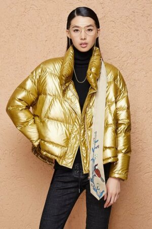Thick Golden Down Jacket