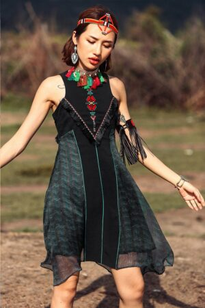 Hippie Style Mini Dress