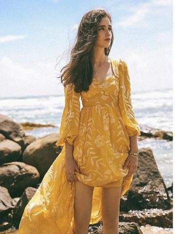 Bohemian Yellow Beach Dress