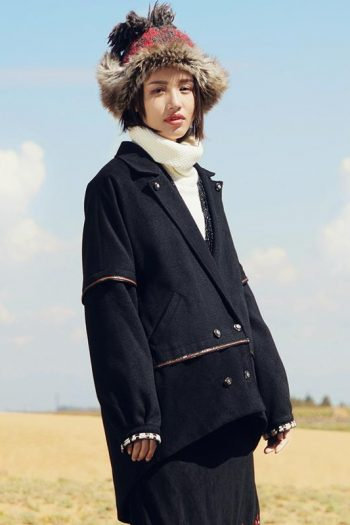 Warm Woolen Ethnic Coat