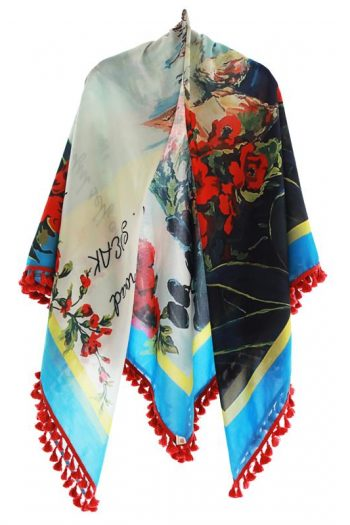 Resort Shawl With Fringe