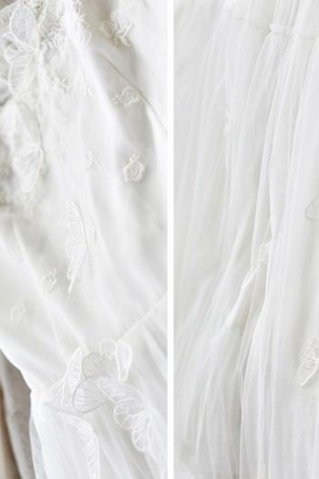 Butterfly White Lace Long Dress