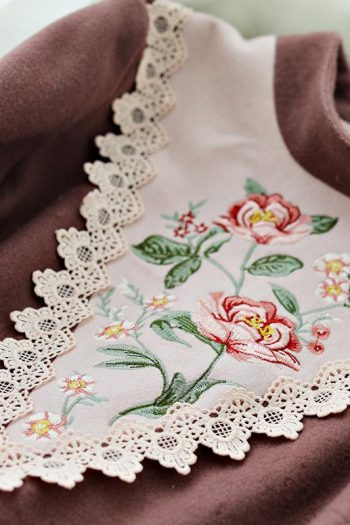 Vintage Embroidered Wool Dress