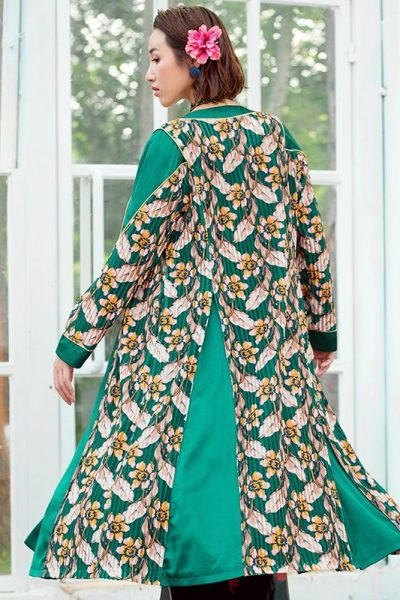 Floral Green Long Jacket