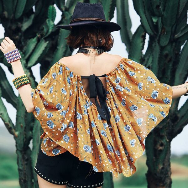 Bat Sleeve Flowy Top