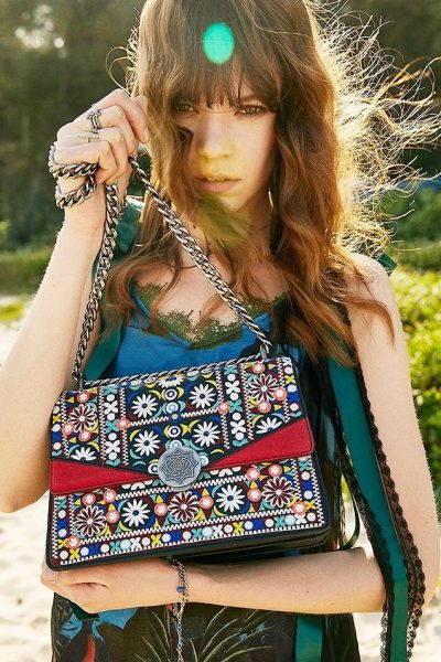 Embroidered Hippie Style Bag
