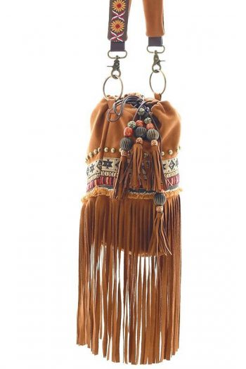 Hippie Style Beaded Tassel Bag