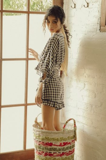 Resort Style Plaid Two-Piece Set