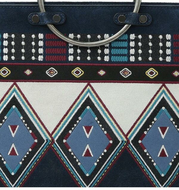 Ethnic Embroidered Suede Bag