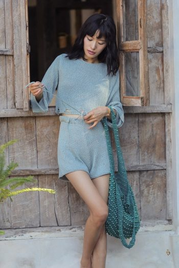 Vacation Style Knit Two-Piece Set