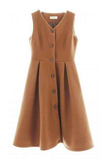 Vintage Sleeveless Woolen Dress