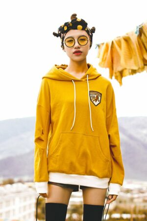 Yellow Hooded Sweater