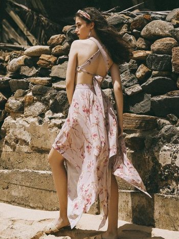 Backless Bohemian Beach Dress